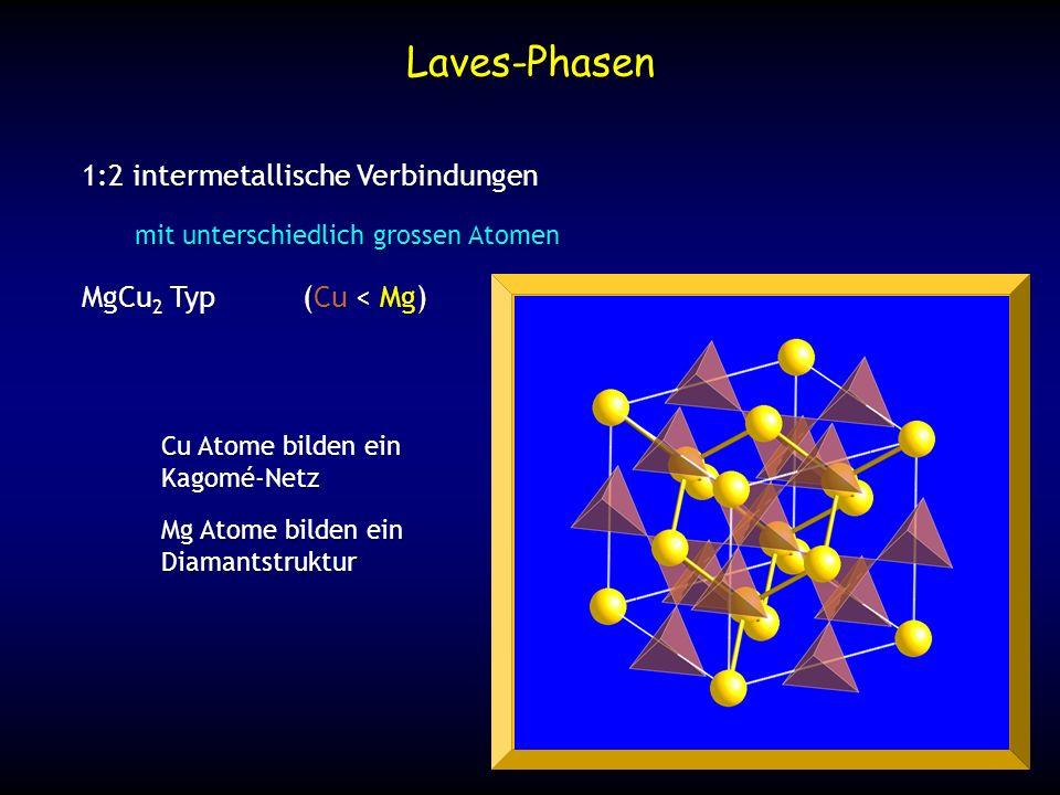Laves-Phasen 1:2 intermetallische Verbindungen MgCu2 Typ (Cu < Mg)