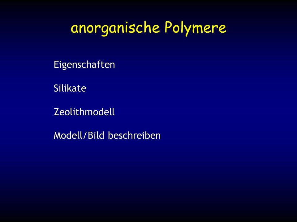 anorganische Polymere