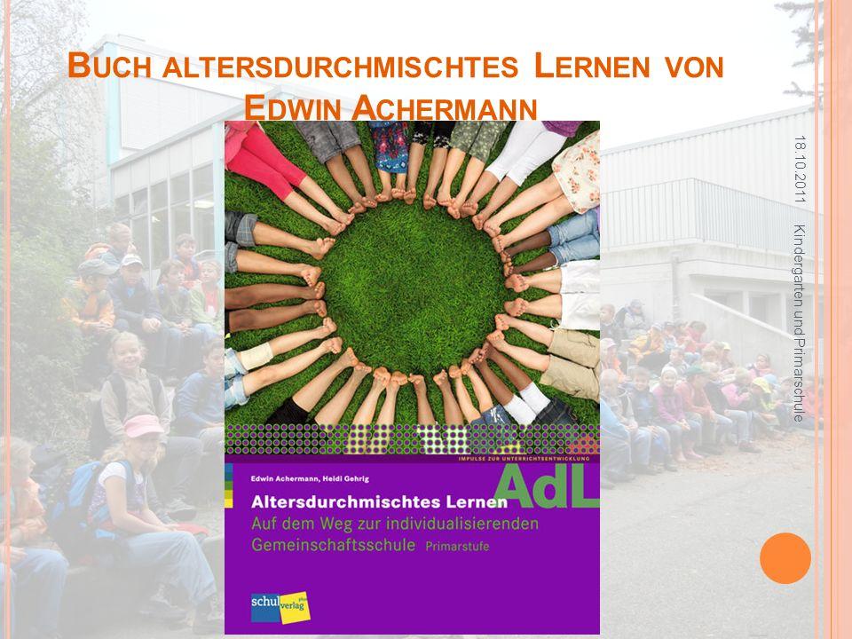 Buch altersdurchmischtes Lernen von Edwin Achermann