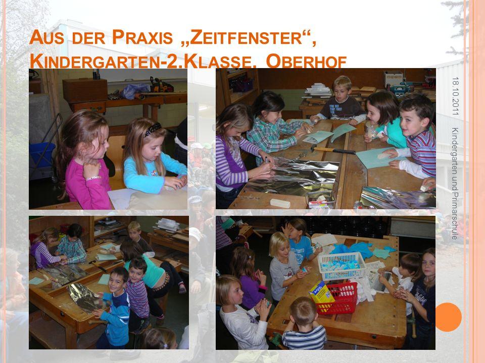 """Aus der Praxis """"Zeitfenster , Kindergarten-2.Klasse, Oberhof"""