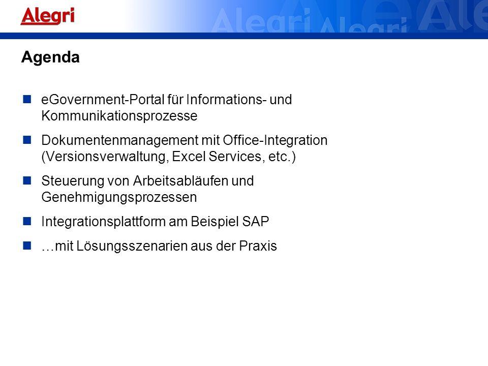 Agenda eGovernment-Portal für Informations- und Kommunikationsprozesse