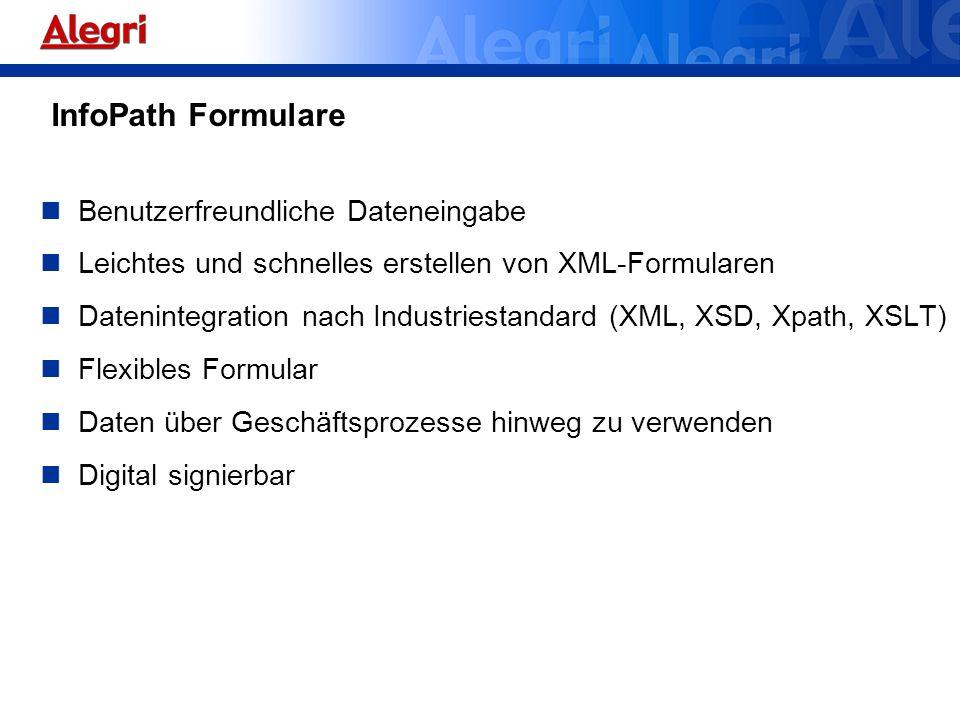 InfoPath Formulare Benutzerfreundliche Dateneingabe