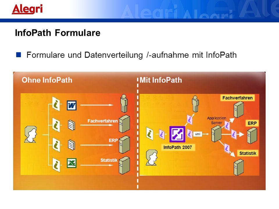InfoPath Formulare Formulare und Datenverteilung /-aufnahme mit InfoPath
