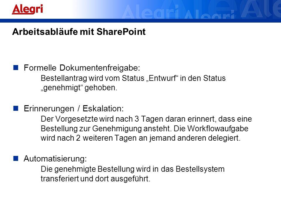 Arbeitsabläufe mit SharePoint