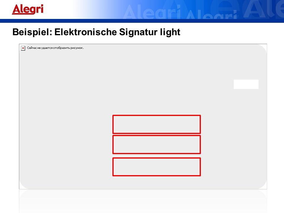 Beispiel: Elektronische Signatur light