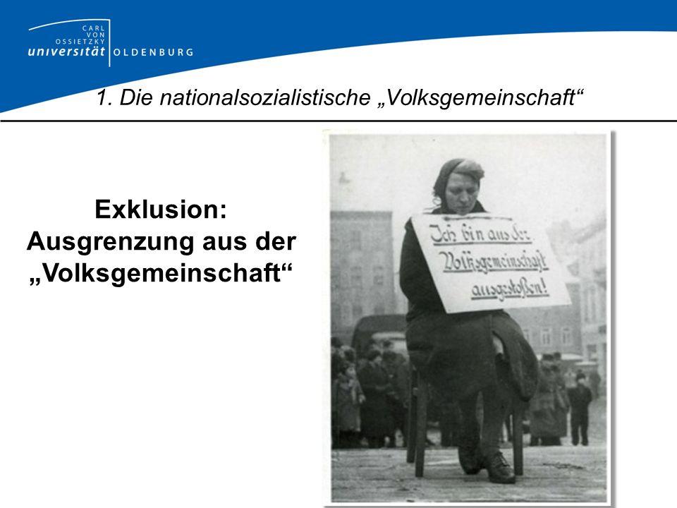 """1. Die nationalsozialistische """"Volksgemeinschaft"""