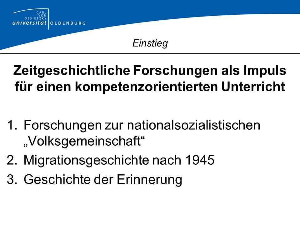 """Forschungen zur nationalsozialistischen """"Volksgemeinschaft"""