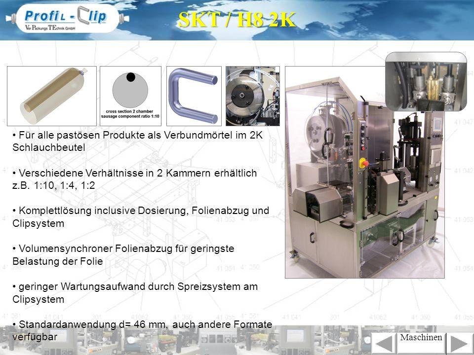 SKT / H8 2K• Für alle pastösen Produkte als Verbundmörtel im 2K Schlauchbeutel.