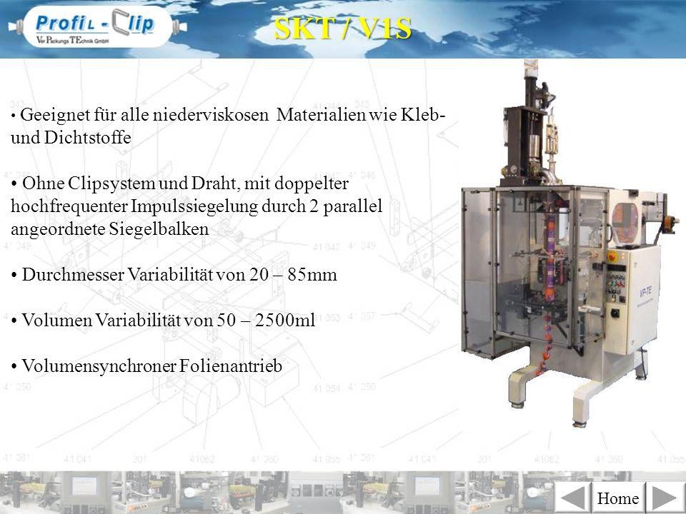 SKT / V1SGeeignet für alle niederviskosen Materialien wie Kleb- und Dichtstoffe.