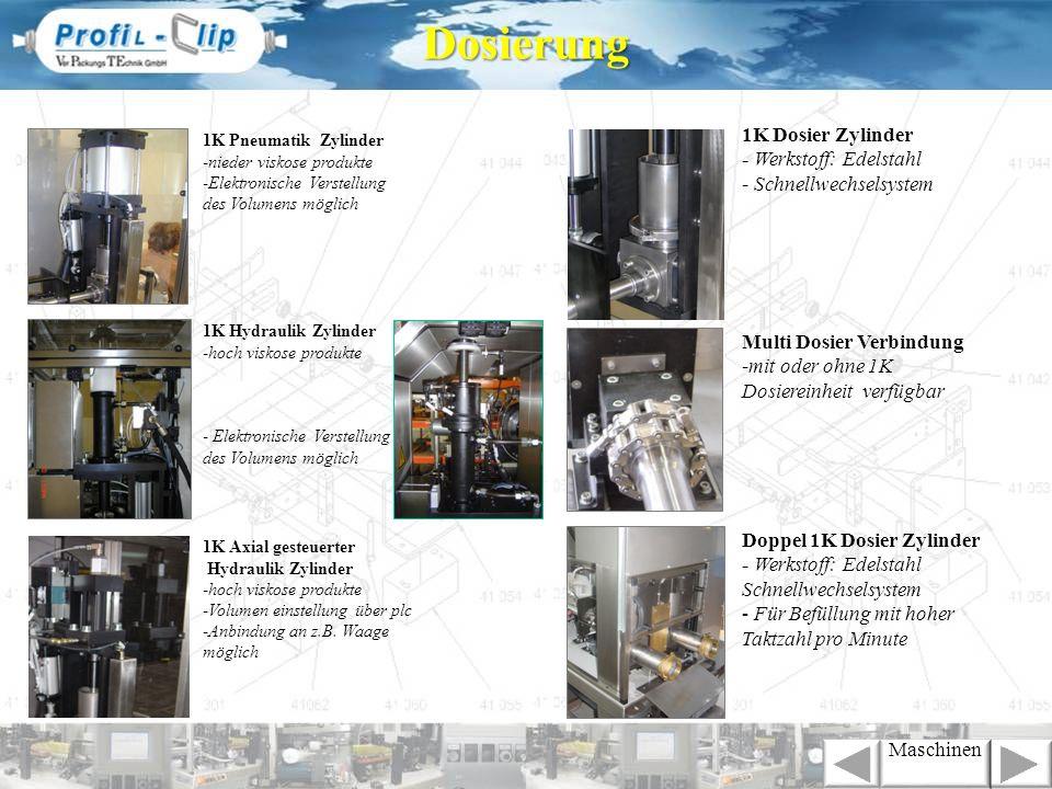 Dosierung 1K Dosier Zylinder - Werkstoff: Edelstahl