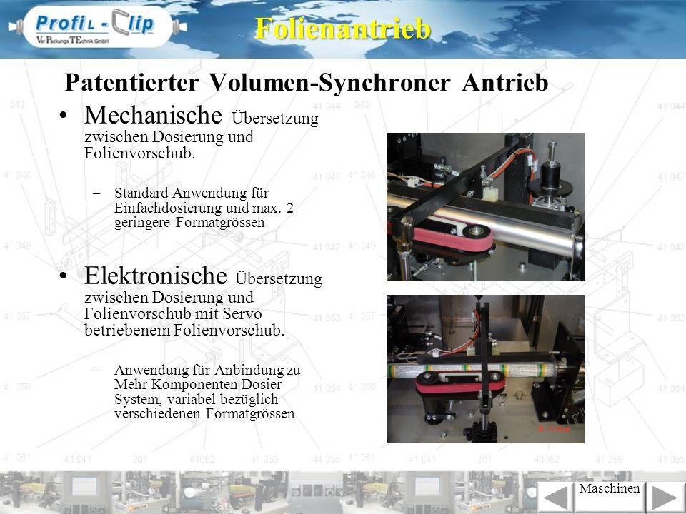 Patentierter Volumen-Synchroner Antrieb