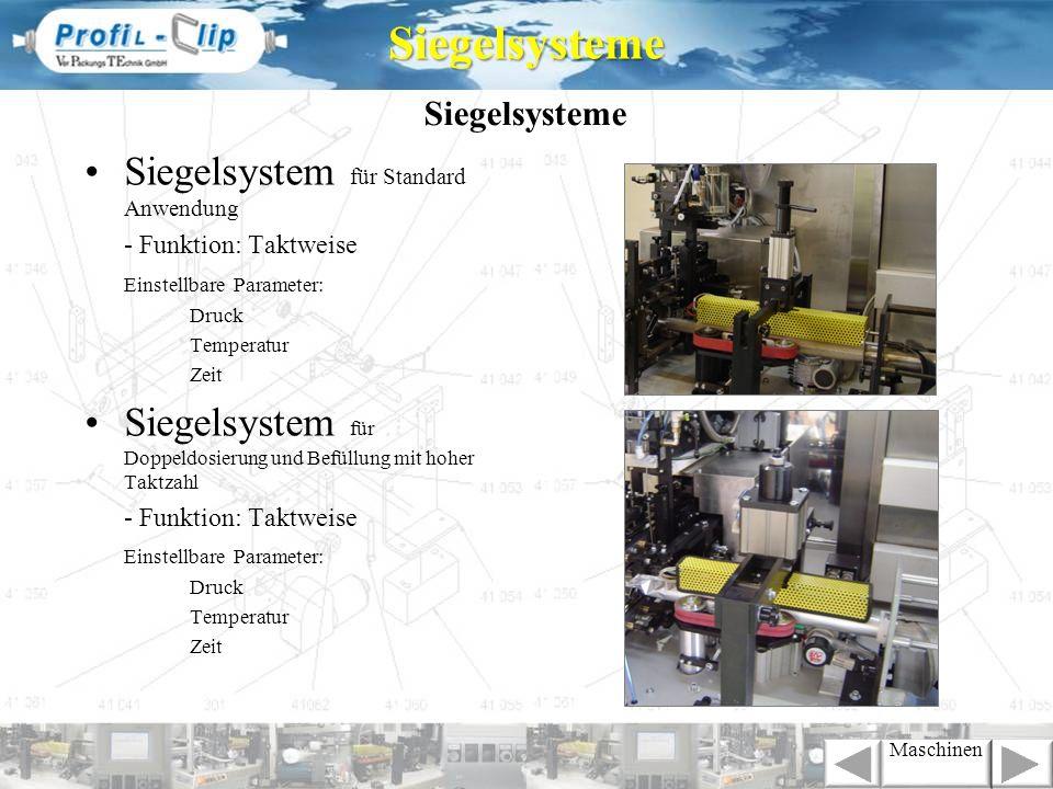Siegelsysteme Siegelsystem für Standard Anwendung