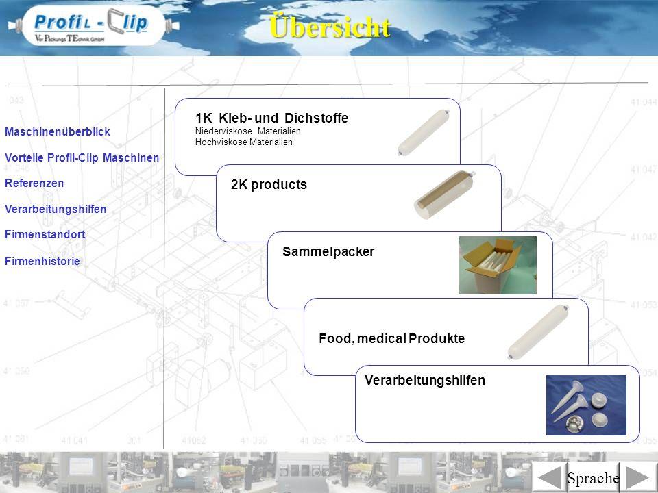 Übersicht Sprache 1K Kleb- und Dichstoffe 2K products Sammelpacker