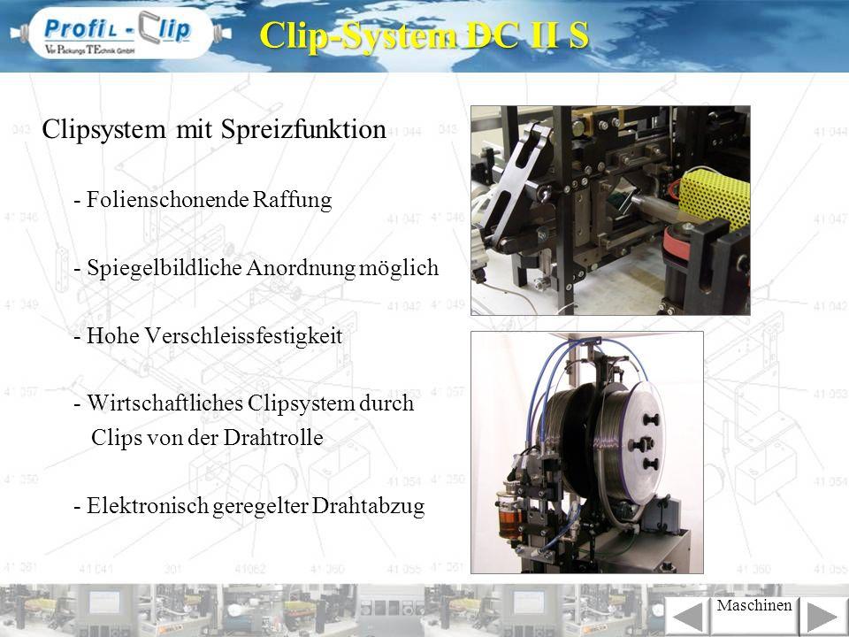 Clip-System DC II S Clipsystem mit Spreizfunktion