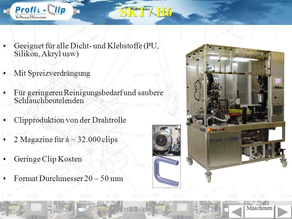 SKT / H6 Geeignet für alle Dicht- und Klebstoffe (PU, Silikon, Akryl usw) Mit Spreizverdrängung.
