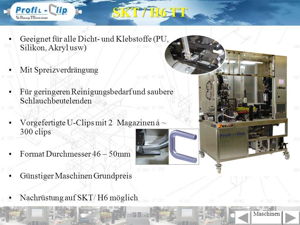 SKT / H6 TTGeeignet für alle Dicht- und Klebstoffe (PU, Silikon, Akryl usw) Mit Spreizverdrängung.