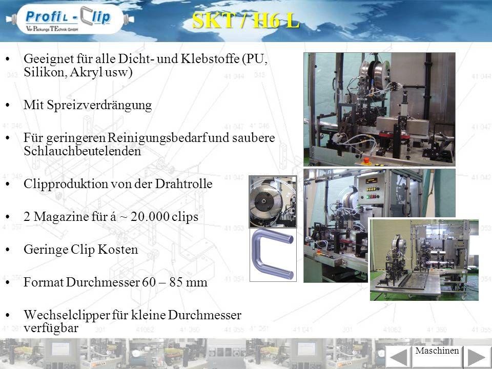 SKT / H6 LGeeignet für alle Dicht- und Klebstoffe (PU, Silikon, Akryl usw) Mit Spreizverdrängung.