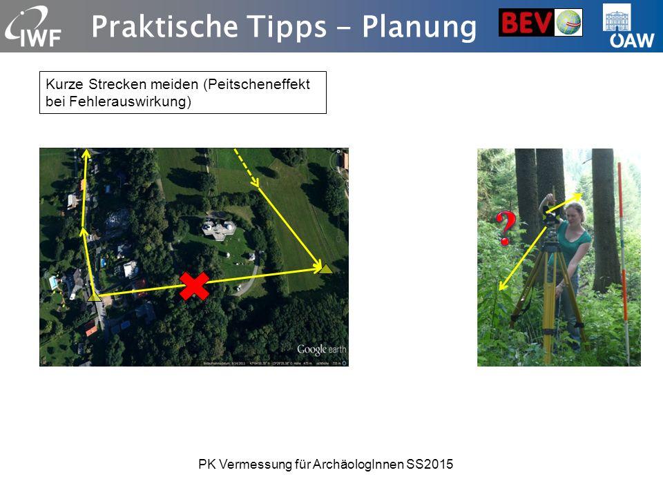 Praktische Tipps - Planung