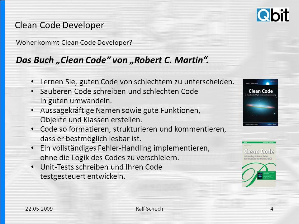 """Das Buch """"Clean Code von """"Robert C. Martin ."""