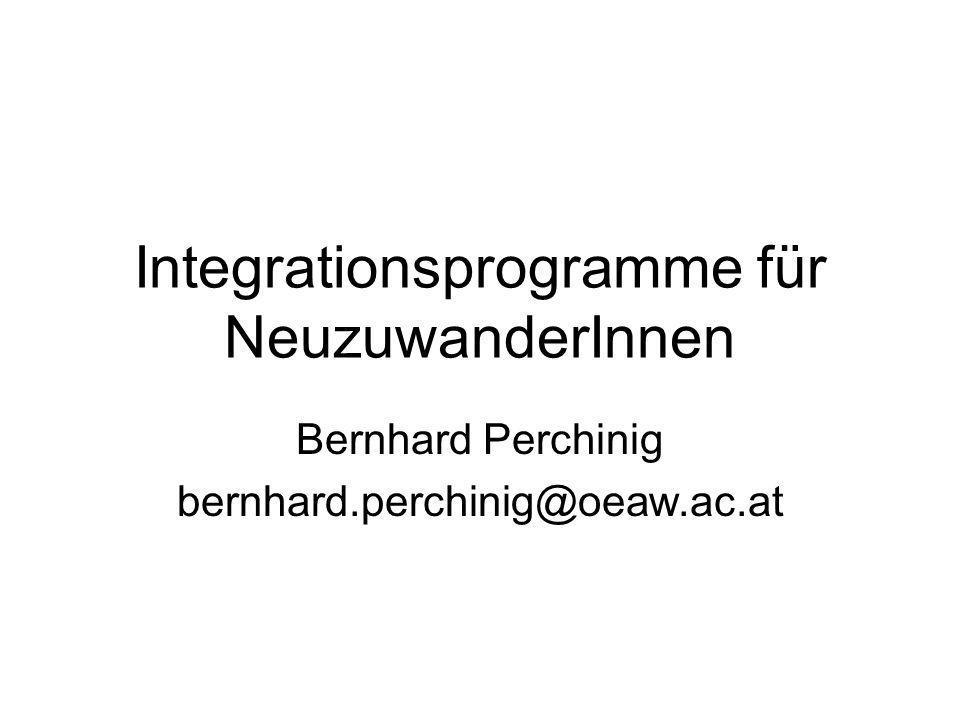 Integrationsprogramme für NeuzuwanderInnen