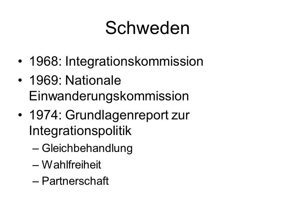 Schweden 1968: Integrationskommission