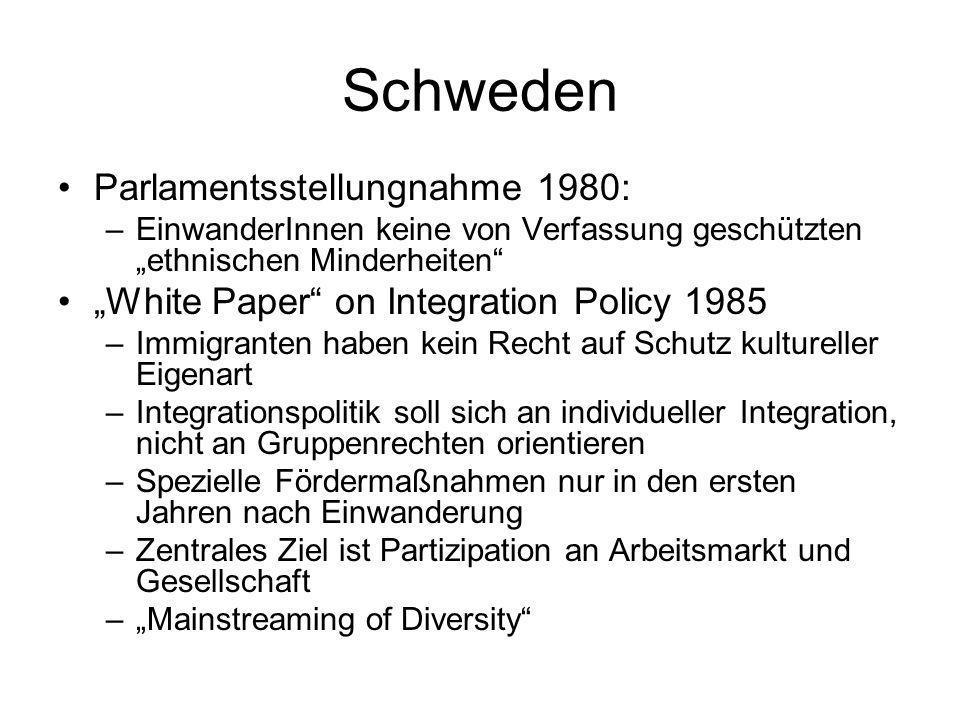 Schweden Parlamentsstellungnahme 1980: