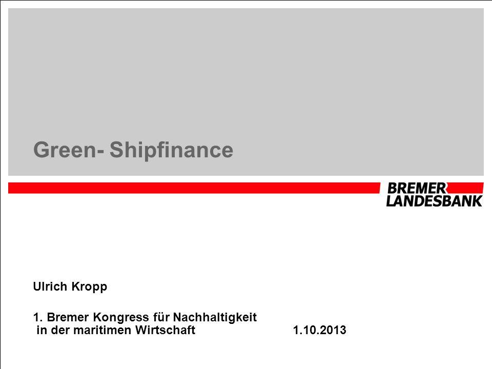 Green- Shipfinance Ulrich Kropp