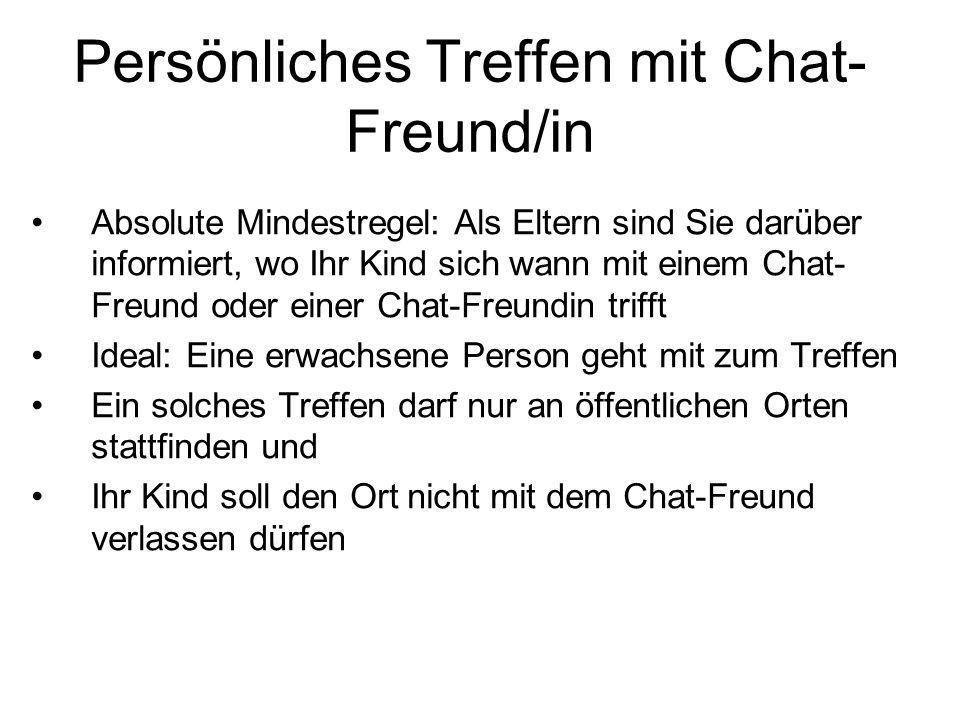 Persönliches Treffen mit Chat-Freund/in