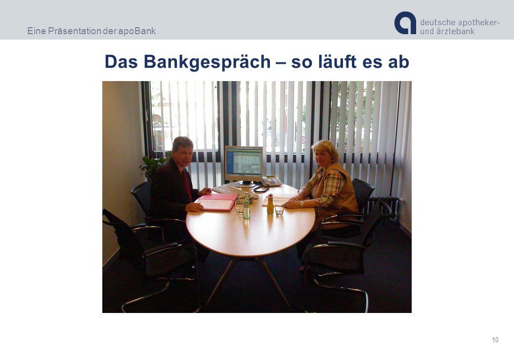 Das Bankgespräch – so läuft es ab