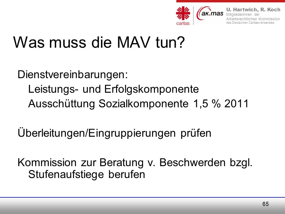 Was muss die MAV tun Dienstvereinbarungen: