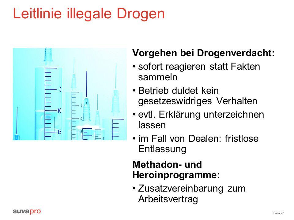 Leitlinie illegale Drogen