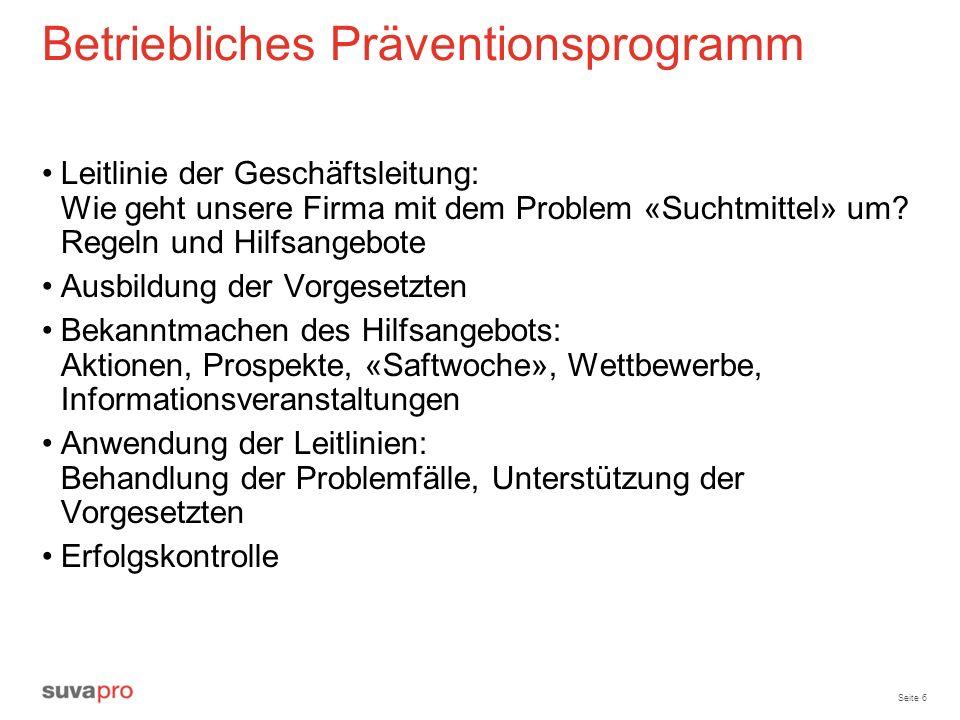 Betriebliches Präventionsprogramm