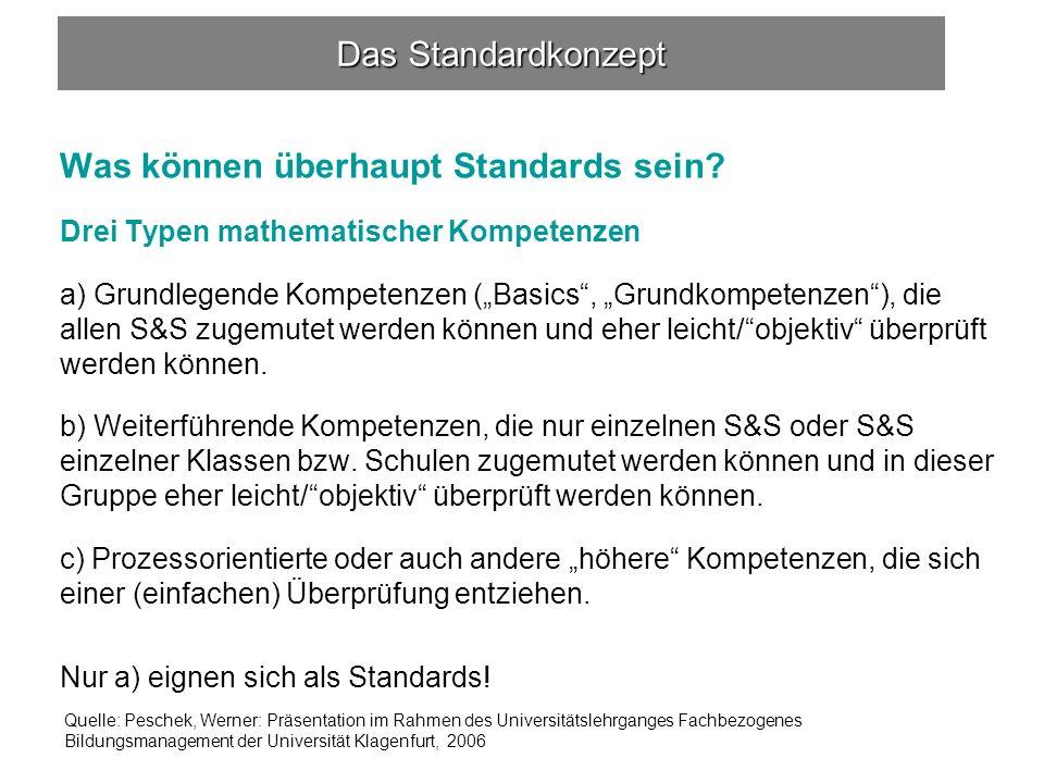 Was können überhaupt Standards sein