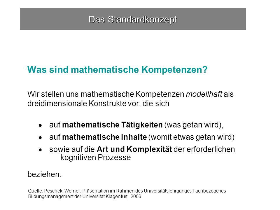Was sind mathematische Kompetenzen