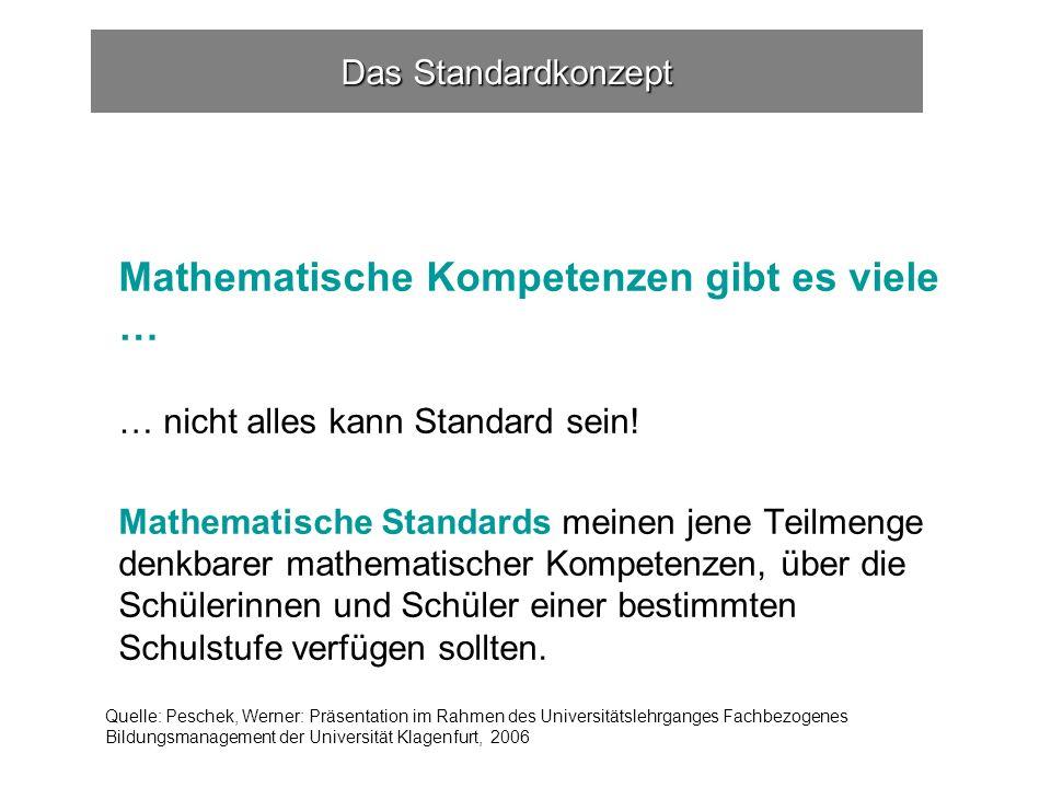 Mathematische Kompetenzen gibt es viele …