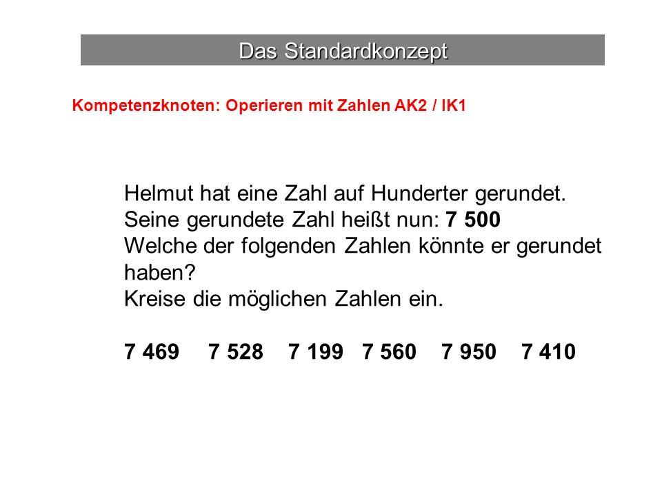Helmut hat eine Zahl auf Hunderter gerundet.