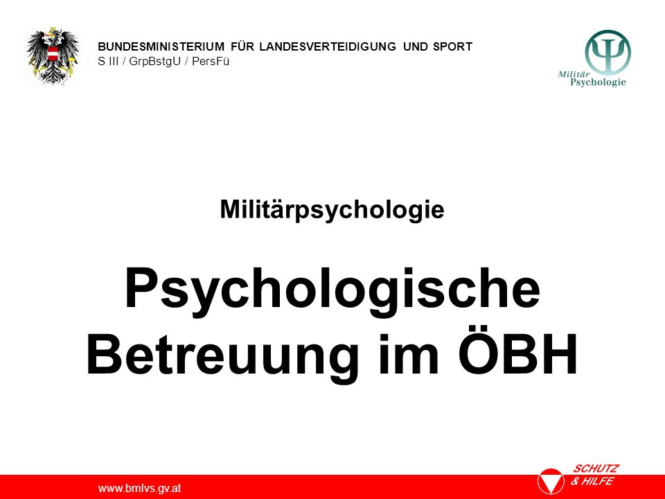 Psychologische Betreuung im ÖBH