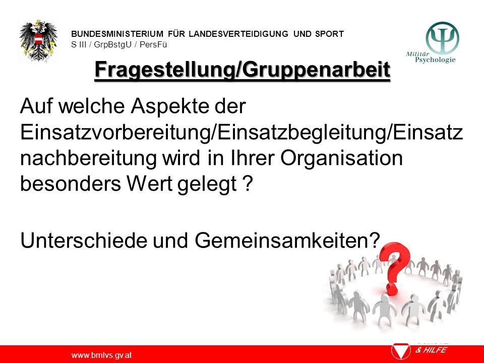 Fragestellung/Gruppenarbeit