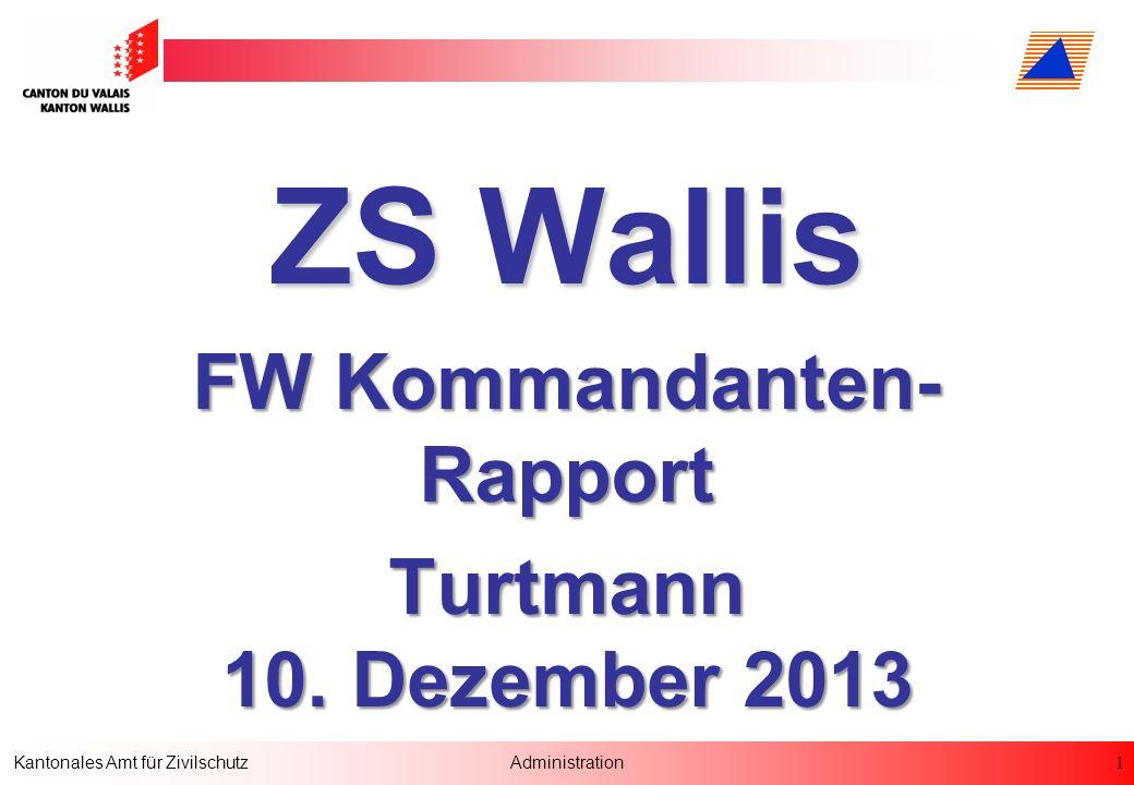 FW Kommandanten-Rapport Turtmann 10. Dezember 2013