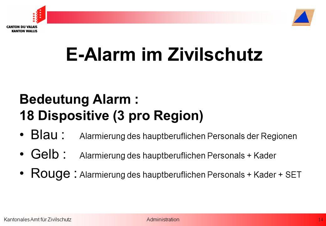E-Alarm im Zivilschutz