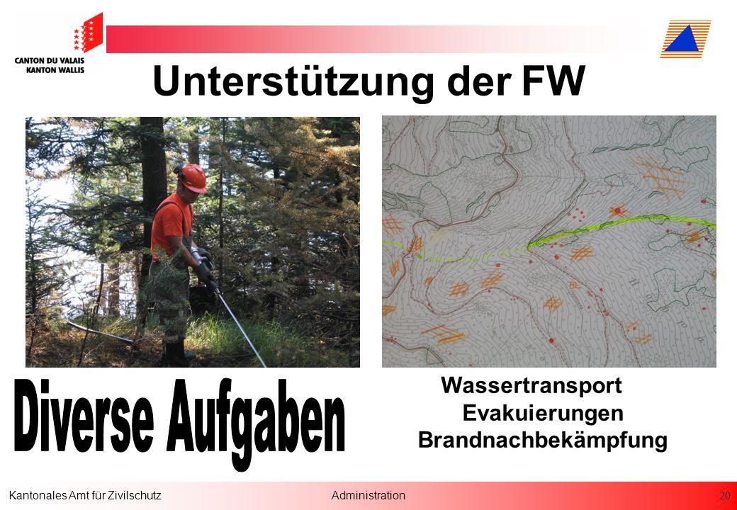 Unterstützung der FW Diverse Aufgaben Wassertransport Evakuierungen