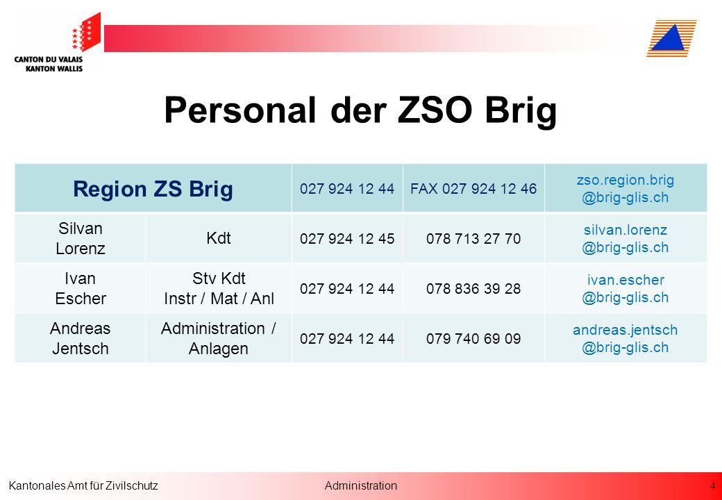 Personal der ZSO Brig Region ZS Brig Silvan Lorenz Kdt Ivan Escher