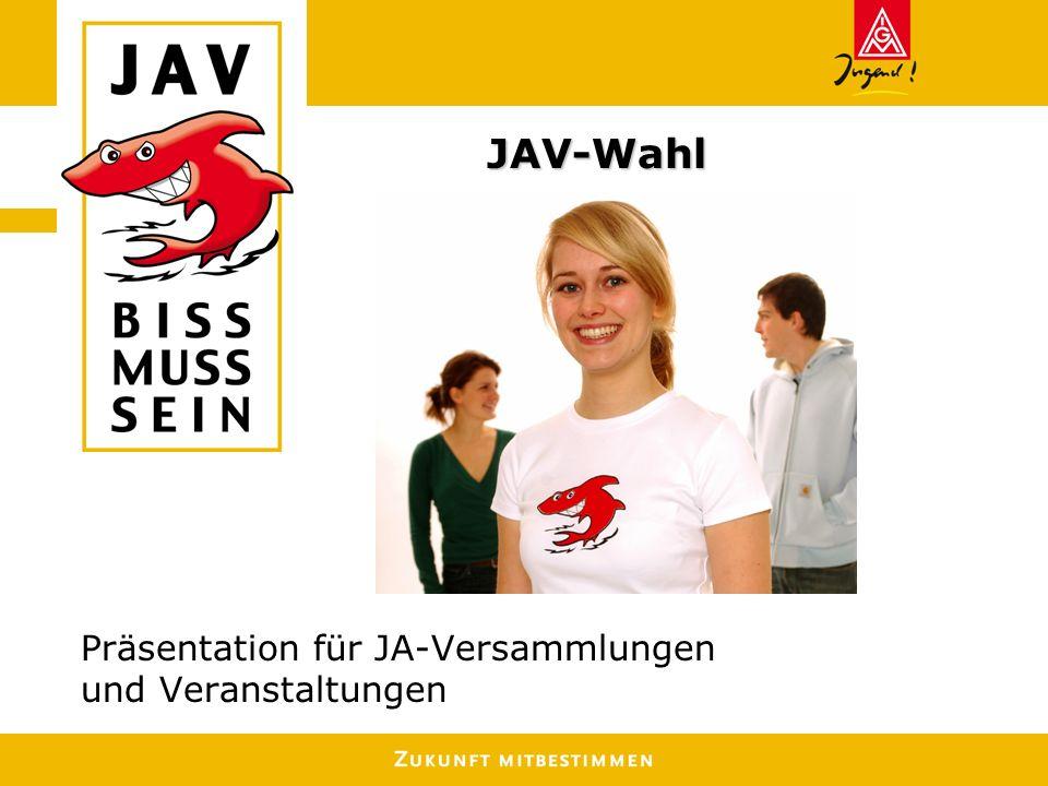 Präsentation für JA-Versammlungen und Veranstaltungen