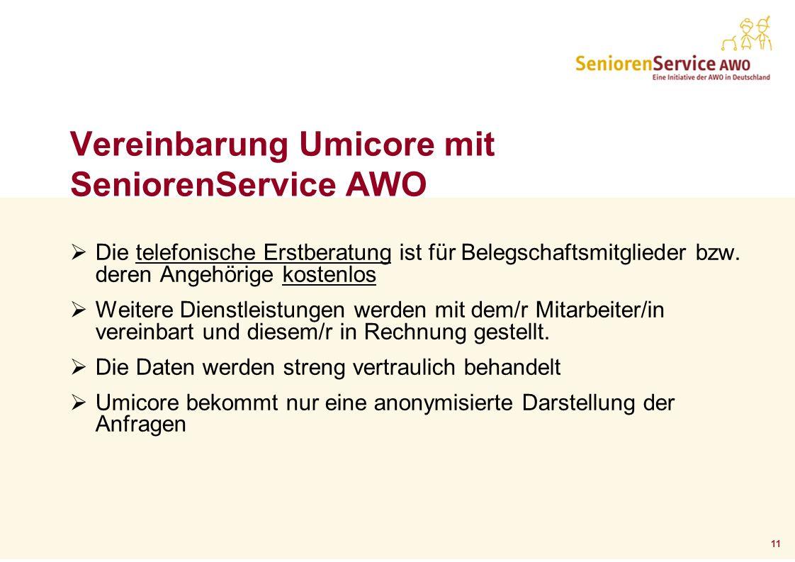 Vereinbarung Umicore mit SeniorenService AWO