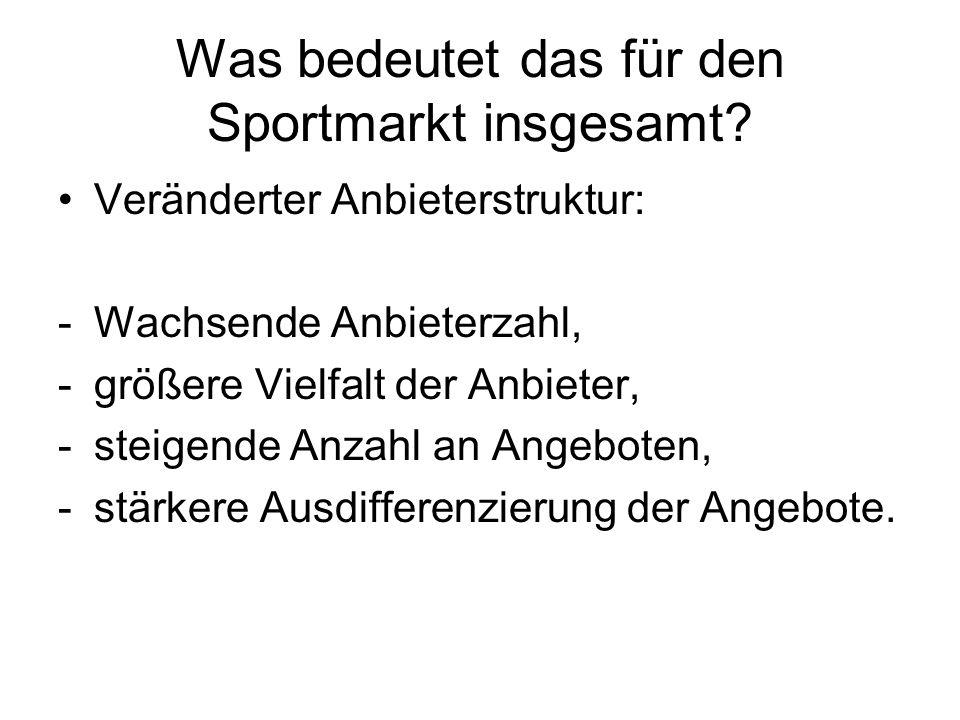 Was bedeutet das für den Sportmarkt insgesamt