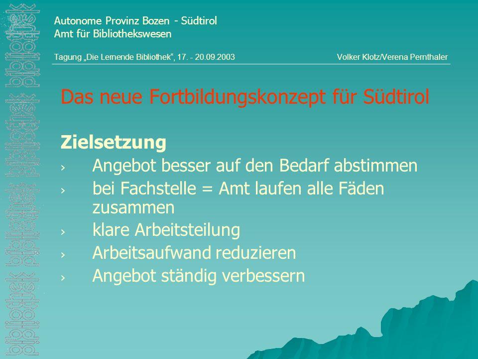Das neue Fortbildungskonzept für Südtirol