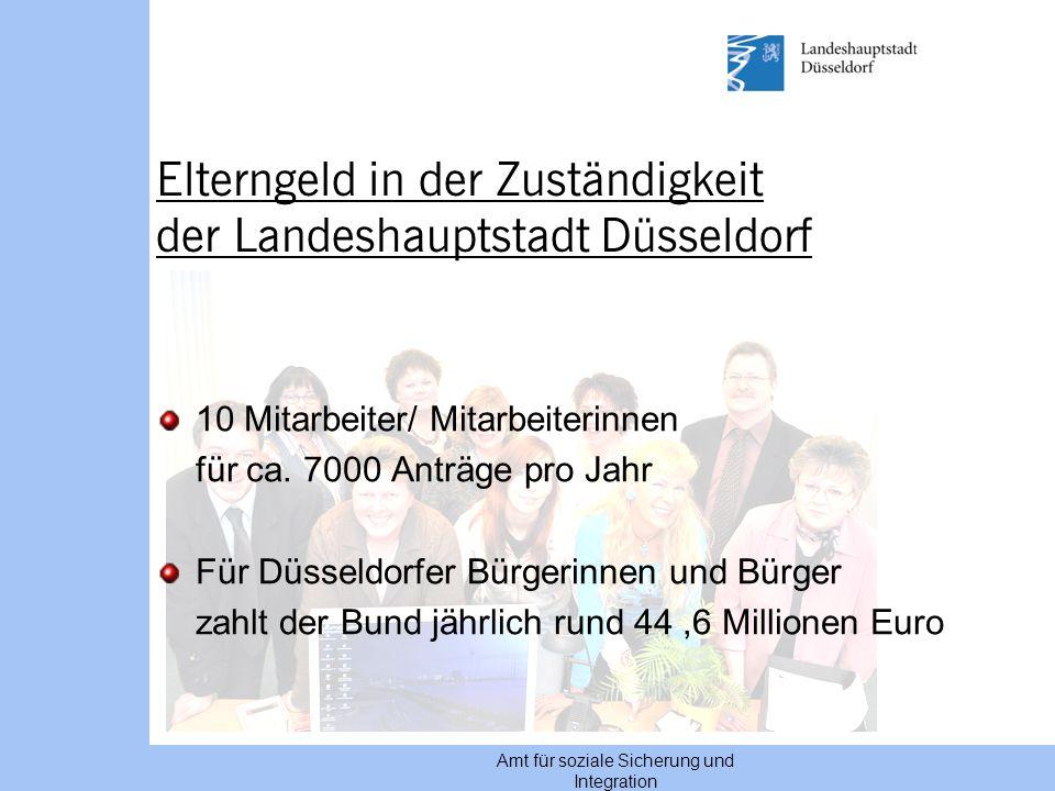 Elterngeld in der Zuständigkeit der Landeshauptstadt Düsseldorf