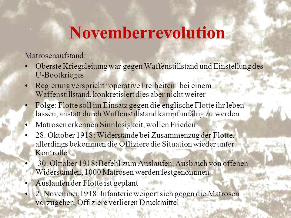 Novemberrevolution Matrosenaufstand: