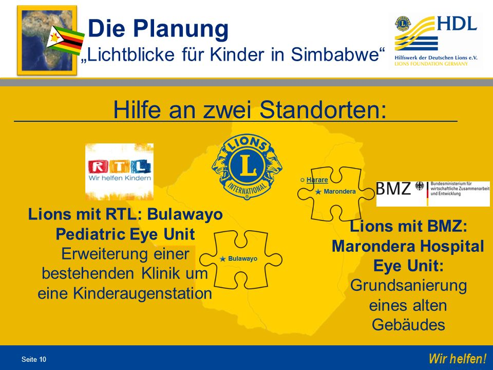 Lions mit RTL: Bulawayo Pediatric Eye Unit