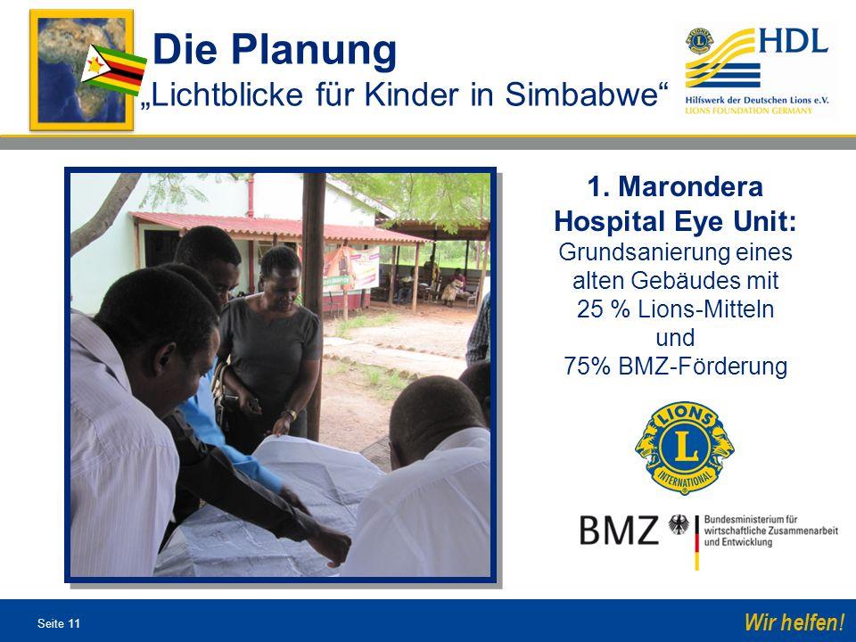 """Die Planung """"Lichtblicke für Kinder in Simbabwe"""